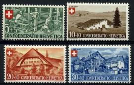 Zwitserland, michel 460/63,xx