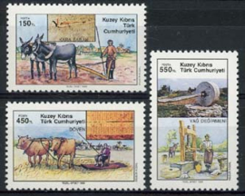 Turks Cyprus, michel 268/70, xx
