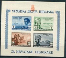 Kroatie, michel blok 5 B, xx