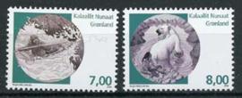 Groenland, michel 509/10, xx