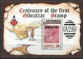 Gibraltar, michel blok 9, o