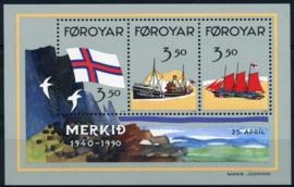 Faroer, michel blok 4, xx