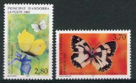 Andorra Fr., michel 483/84, xx