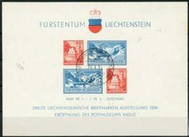 Liechtenstein, michel blok 2 , o