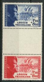 Frankrijk, michel 576/77, xx