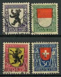 Zwitserland, michel 209/12, o