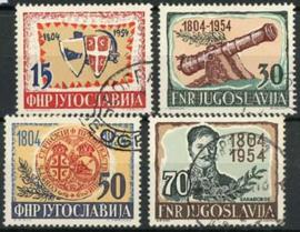 Joegoslavie, michel 751/54, o