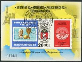 Hongarije, michel blok 157 B, o