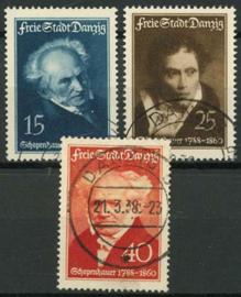 Danzig , michel 281/83, o