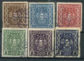 Oostenrijk, michel 398/404 B, o