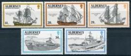 Alderney, michel 43/47, xx