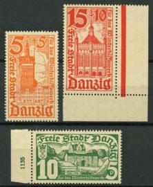 Danzig , michel 256/58, xx