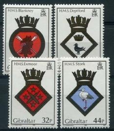 Gibraltar, michel 572/75, xx