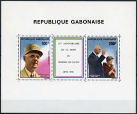 Gabon, michel blok 41, xx
