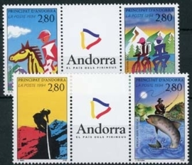 Andorra Fr., michel 468/71, xx
