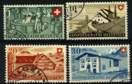 Zwitserland, michel 471/74,o