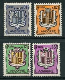 Andorra Fr., michel 186/89 , xx