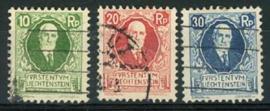 Liechtenstein, michel 72/74, o