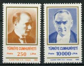 Turkije, michel 2950/51, xx