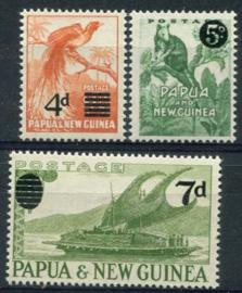 Papua N.Guinea, michel 24/26, xx