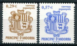 Andorra Sp., michel 330/31, xx