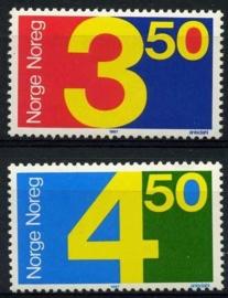 Noorwegen, michel 961/62, xx