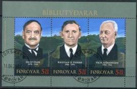 Faroer, michel blok 20, o