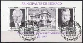 Monaco , michel blok 37 A , o