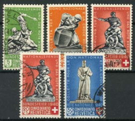 Zwitserland, michel 364/67 + b, o