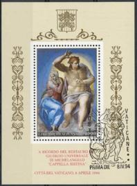 Vatikaan, michel blok 14, o