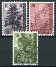 Liechtenstein, michel 357/59, o