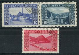 Bosnie Herz., michel 61/63, o