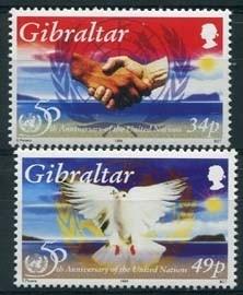Gibraltar, michel 735/36, xx