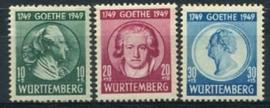 Wurttemberg, michel 44/46, x
