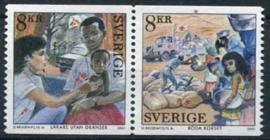 Zweden, michel 2243/44, xx