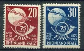 Rheinland-Pfalz, michel 51/52, xx