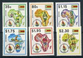 Zimbabwe, michel 558/63, xx