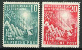 Bundespost, michel 111/12, xx