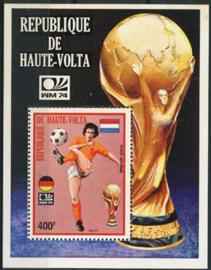 Haute Volta, michel blok 25, xx