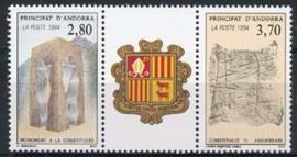 Andorra Fr., michel 463/64, xx