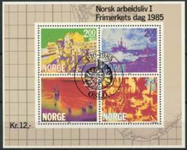 Noorwegen, michel blok 5 , o