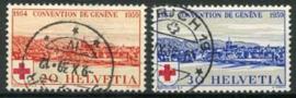 Zwitserland, michel 357/58, o