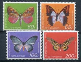 Ivoorkust, michel 558/61, xx