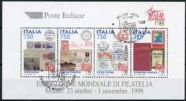 Italie, michel blok 16, o