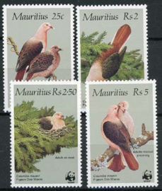 Mauritius, michel 609/12, xx