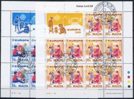 Malta, michel kb 816/17, o