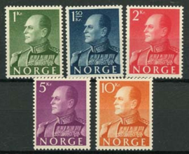 Noorwegen, michel 428/32 x , xx