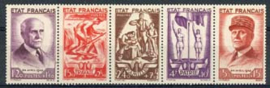 Frankrijk, michel 589/93, xx