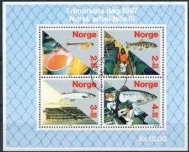 Noorwegen, michel blok 8, o