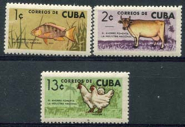 Cuba, michel 896/98, xx